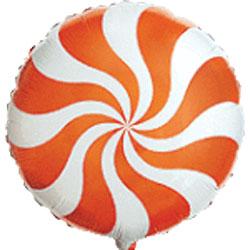 Globo foil caramelo candy de 45 centímetros en color naranja