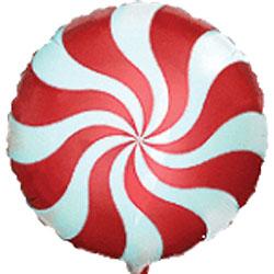 Globo de foil modelo caramelo candy e color rojo de 45 centímetros