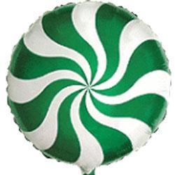Globo caramelo candy de foil en color verde de 45 centímetros