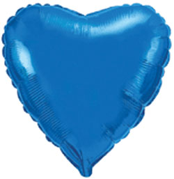 globo de foil de 45 centímetros enn color azul