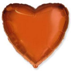 Globo de foil de 45 centímetros en color naranja