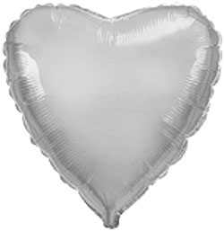 Globo de foil de 45 centímetros en color plata