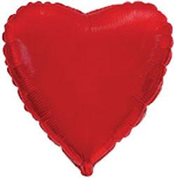 Globo de foil de 45 centímetros en color rojo