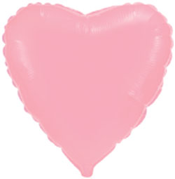 Globo de foil de 45 centímetros en color rosa baby o rosa claro