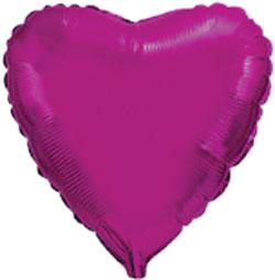 Globo de foil de 45 centímetros en color rosa fuerte