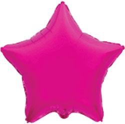 Globo de foil en forma de estrella en color fuchsia