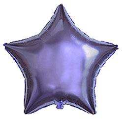 Globo de foil en forma de estrella de 45 centímetros en color lila