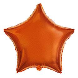 Globo de foil en forma de estrella de 45 centímetros en color naranja