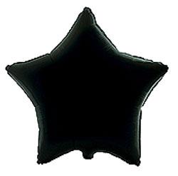 Globo de foil en forma de estrella de 45 centímetros en color negro