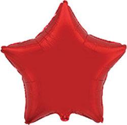 Globo de foil en forma de estrella de 45 centímetros en color rojo