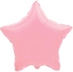 Globo de foil en forma de estrella de 45 centímetros en color rosa claro