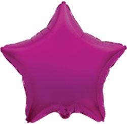 Globo de foil en forma de estrella en color rosa fuerte