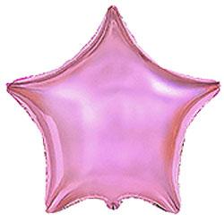 Globo de foil en forma de estrella de 45 centímetros en color rosa metálico