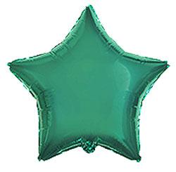 Globo de foil en forma de estrella de 45 centímetros en color turquesa