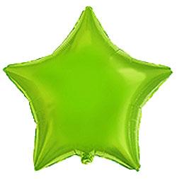 Globo de foil en forma de estrella de 45 centímetros en color verde lima