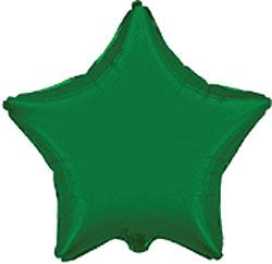 Globo de foil en forma de estrella de 45 centímetros en color verde