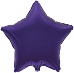 Globo de foil en forma de estrella de 45 centímetros en color púrpura o violeta
