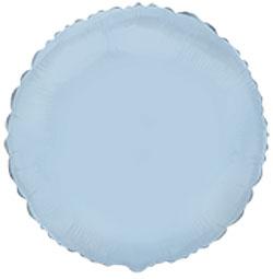 Globo de foil de 45 centímetros en forma redonda en color azul claro