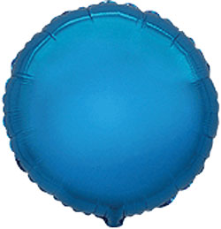 Flobo de foil de 45 centímetros en forma redonda de color azul