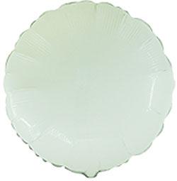Globo de foil en forma de redonda de 45 centímetros en color blanco