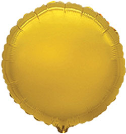 Globo de foil de 45 centímetros en forma de redonda en color dorado