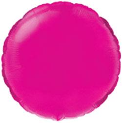 Globo de foil de 45 centímetros en forma redonda en color fuchsia