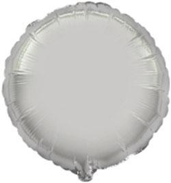 Globo de foil en forma redonda de 45 centímetros en color plata