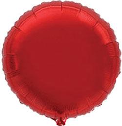 Globo de foil en forma redonda de 45 centímetros en color rojo