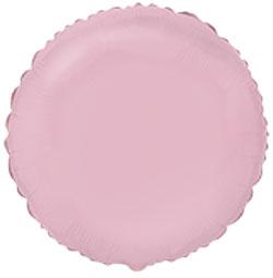 Globo de foil de 45 centímetros en forma de redonda en color rosa claro