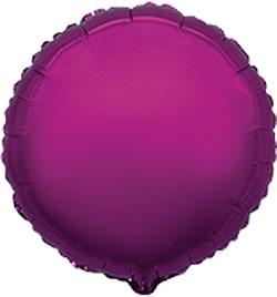 Globo de foil en forma de redonda de 45 centímetros en color rosa fuerte