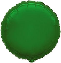 Glob de foil en forma redonda de 45 centímetros en color verde
