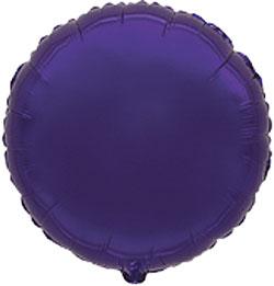 Globo de foil en forma redonda de 45 centímetros en color violeta púrpura