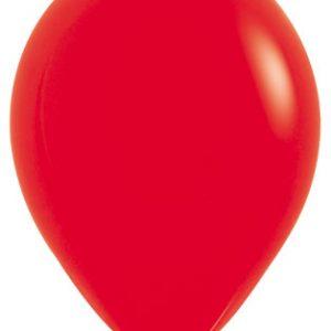Globos de 30 centímetros, en color rojo, marca Sempertex
