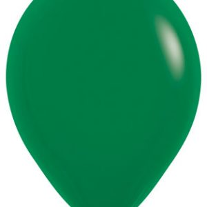 Globos de 30 centímetros, en color verde selva de la marca Sempertex