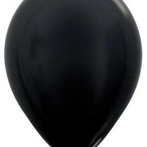 Globos de 30 centímetros, en color negro perlado de la marca Sempertex