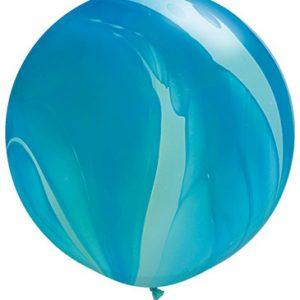 Globo de 80 centímetros, gama Agata en color azul de la marca Qualatex
