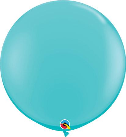 Globo de 80 centímetros, en color caribean blue de la marca Qualatex