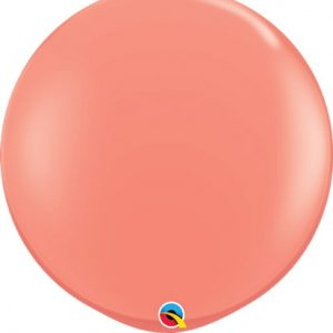 Globo 80 centímetros, en color coral de la marca Qualatex