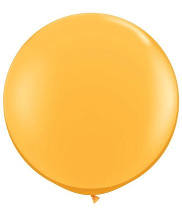 Globo de 80 centímetros, en color golden rod de la marca Qualatex