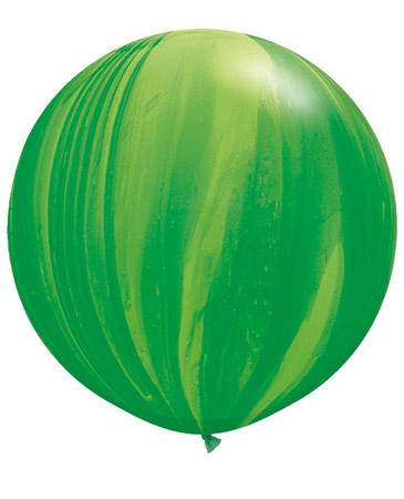 Globo de 80 centímetros, gama Agata, en color verde de la marca Qualatex