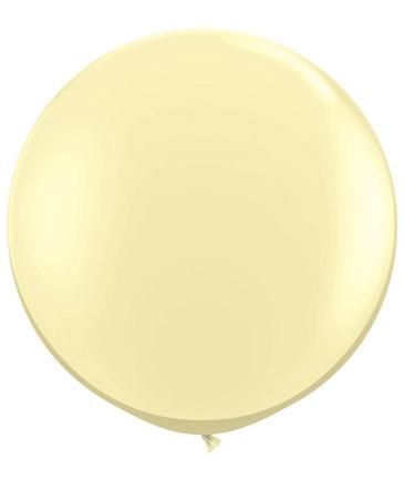Globo de 80 centímetros, en color Ivory de la marca Qualatex