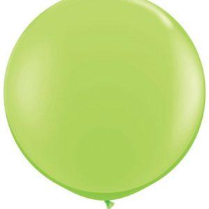 Globo de 80 centímetros, en color verde lima de la marca Qualatex
