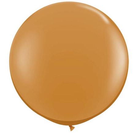 Globo de 80 centímetros, en color mocha brown de la marca Qualatex