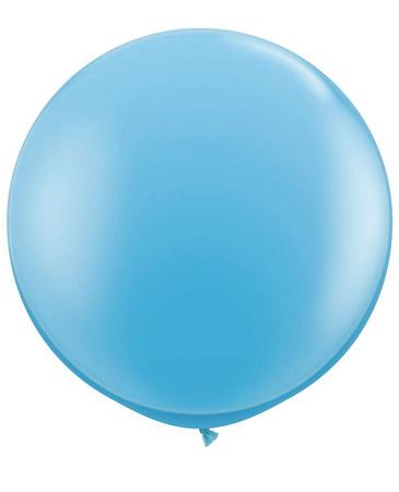 Globo de 80 centímetros, en color azul claro de la marca Qualatex