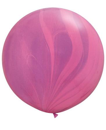 Globo de 80 centímetros, gama Aagata, en colores rosa y violeta de la maraca Qualatex