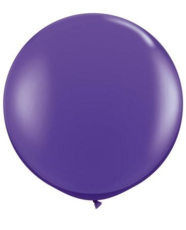 Globo de 80 centímetros, en color violeta púrpra de la marca Qualatex