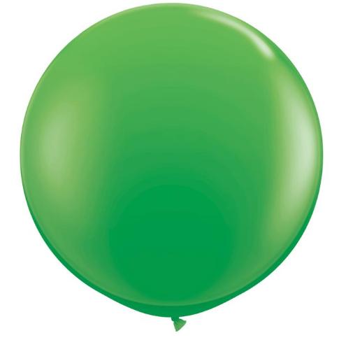 Globo de 80 centímetros, en color spring green de la marca Qualatex
