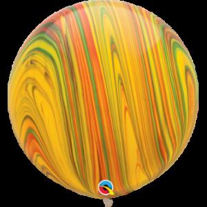 Globo de 80 centímetros, gama Agata, en multicolor de la marca Qualatex
