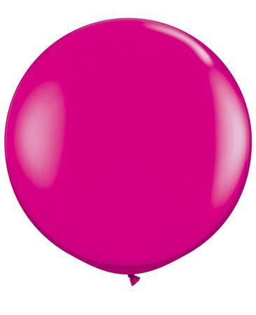 Globo de 80 centímetros, en color wild berry de la marca Qualatex