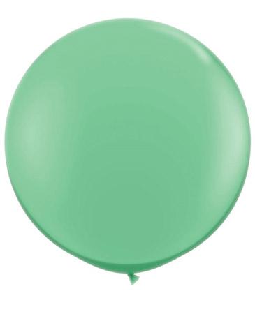 Globo de 80 centímetros, en color winter green de la marca Qualatex